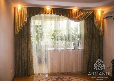 шторы для гостиной - вариант 9