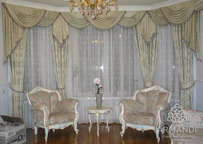 шторы для гостиной - вариант 11