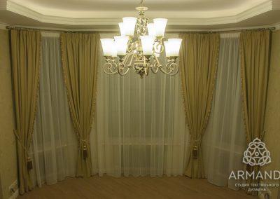 шторы для гостиной - вариант 15