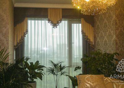 шторы для гостиной - вариант 4