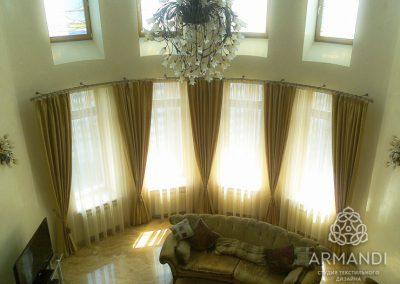 шторы для гостиной - вариант 6