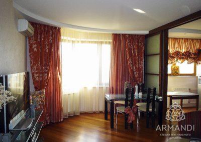 шторы для гостиной - вариант 8
