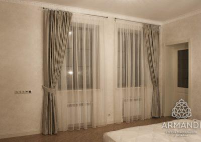 Комплект гардин с прозрачным тюлем для спальни