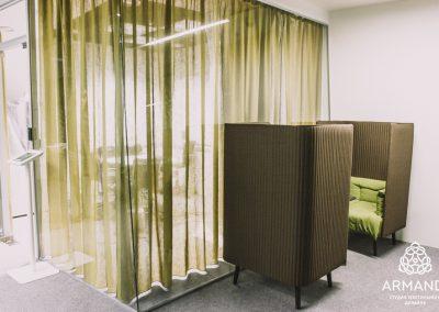 шторы в стиле минимализм - вариант 1