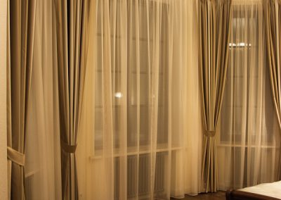 шторы для эркерных окон - вариант 14