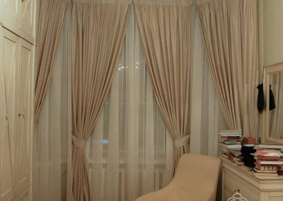 шторы для эркерных окон - вариант 3