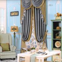 шторы в викторианском стиле - 1