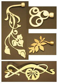 Эксклюзивные кованые карнизы. Коллекция Флора