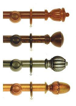 Круглые деревянные карнизы. Коллекция Антик фото