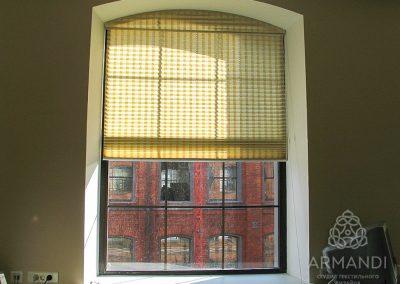 Плиссе - идеальный вариант для арочных окон