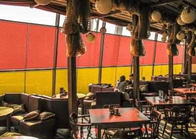 Плиссе для ресторана в ТЦ Европейский