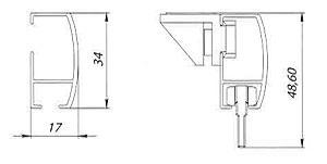 Размеры профиля D3400