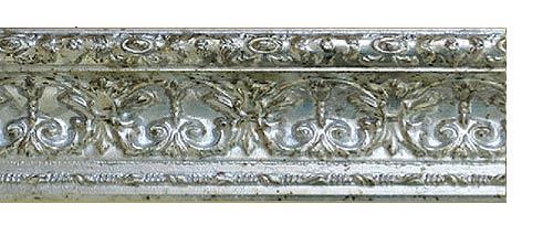 Купить багетные карнизы Эрмитаж, цвет серебро античное