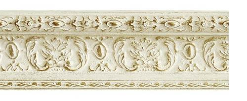 Багетные карнизы Эрмитаж на заказ, цвет белое золото