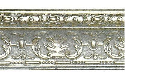 Багетные карнизы Эрмитаж, цвет серебро античное