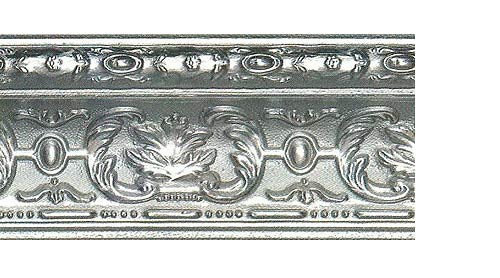 Багетные карнизы Эрмитаж, цвет серебро