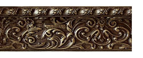 Купить багетные карнизы Колизей, цвет золото коричневое