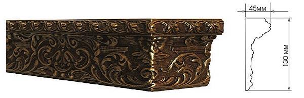 Эксклюзивные багетные карнизы Колизей. Размеры и внешний вид