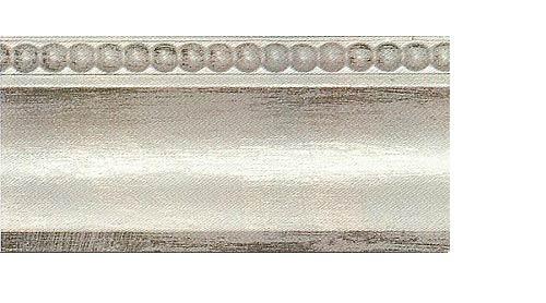 Багетные карнизы Лувр, цвет белое серебро