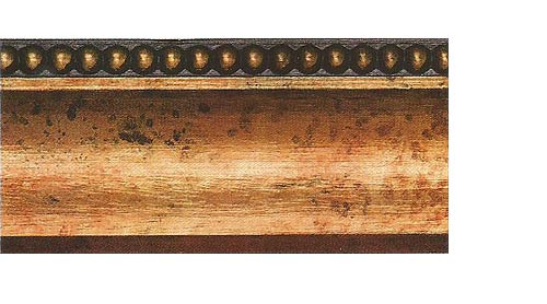Багетные карнизы Лувр, цвет медь античная