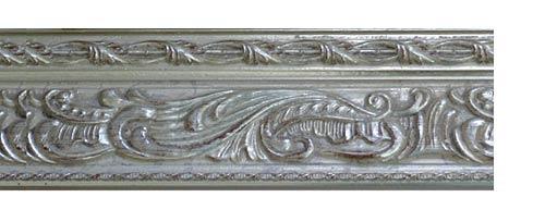 Багетные карнизы Монплезир, цвет серебро античное фото