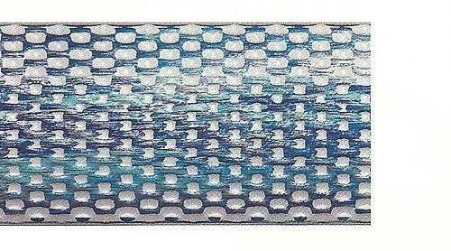 Багетные карнизы Нотр Дам, цвет бело-синий