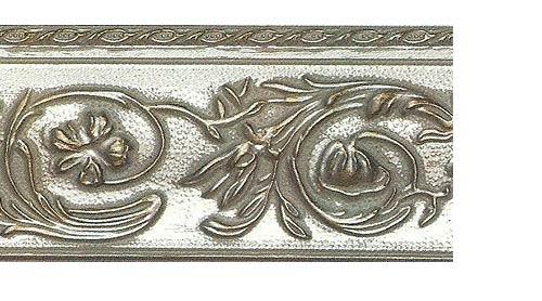 Багетные карнизы Прадо, цвет серебро античное