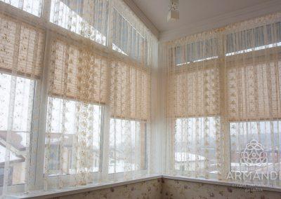 Плиссе и тюль для балкона
