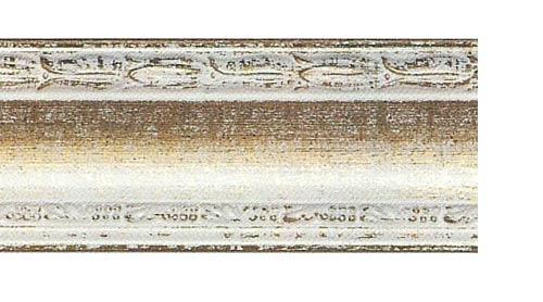 Багетные карнизы Уффици, цвет белое золото фото