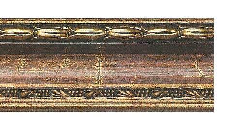 Багетные карнизы Уффици, цвет бронза античная фото
