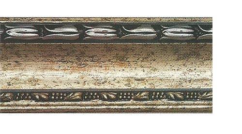 Багетные карнизы Уффици, цвет серебро античное