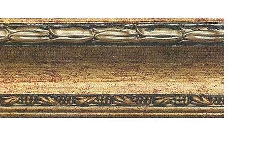 Багетные карнизы Уффици, цвет золото античное