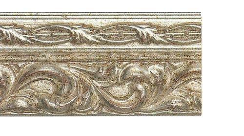 Багетные карнизы Версаль, цвет серебро античное